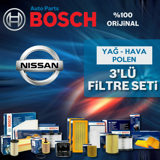 Nissan Qashqai 1.5 Dcı Bosch Filtre Bakım Seti (2007-2013) UP463653 BOSCH