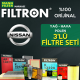 Nissan Qashqai 1.5 Dcı Filtron Filtre Bakım Seti (2014-2018) K9k  UP468477 FILTRON