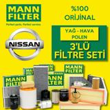 Nissan Qashqai 1.5 Dcı Mann-filter Filtre Bakım Seti (2014-2018) K9k UP468479 MANN