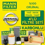 Nissan Qashqai 1.6 Dci Mann-filter  Filtre Bakım Seti (2014-2017) UP561023 MANN