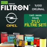 Opel Astra G 1.6i Twinport Filtron Filtre Bakım Seti 2004-2009 UP1320106 FILTRON