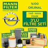 Opel Astra H 1.3 Cdti Mann-filter Filtre Bakım Seti (2005-2013) UP463822 MANN