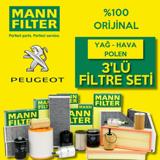 Peugeot 308 1.6 E-hdi Mann Filtre Bakım Seti 2014-2017 UP1539652 MANN