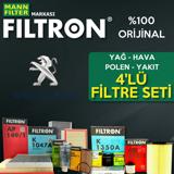 Peugeot 308 1.6 Hdi Filtron Filtre Bakım Seti 2008-2011 UP1324642 FILTRON
