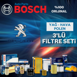 Peugeot 407 1.6 Hdi Bosch Filtre Bakım Seti 2004-2013 UP1312966 BOSCH