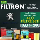 Peugeot Partner 1.6 Hdi Euro 5 2011 üstü Filtron Filtre Bakım Seti UP1539421 FILTRON