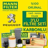 Peugeot Partner 1.6 Hdi Euro 5 2011 üzeri Mann Filtre Bakım Seti UP1539428 MANN