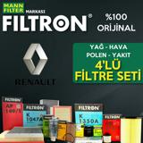 Renault Clio 4 1.5 Dci Filtron Filtre Bakım Seti 2012-2016 UP1319430 FILTRON