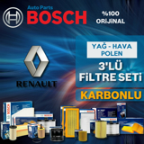 Renault Laguna 3 1.6 Bosch Filtre Bakım Seti (2008-2011) UP583250 BOSCH