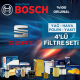 Seat İbiza 1.4 Bosch Filtre Bakım Seti 2002-2009 UP1312874 BOSCH