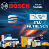 Seat İbiza 1.4 Bosch Filtre Bakım Seti 2009-2014 Cgg UP1313059 BOSCH