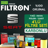 Seat İbiza 1.4 Filtron Filtre Bakım Seti 2009-2014 Cgg UP1319421 FILTRON