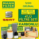 Seat Leon 1.6 Tdi Mann-filter Filtre Bakım Seti 2013-2019 UP1326595 MANN