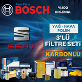 Seat Toledo 1.2 1.4 Tsi Benzinli Bosch Filtre Bakım Seti 2015-2017 UP1539518 BOSCH