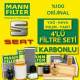 Seat Toledo 1.4 Tdi Dizel Mann Filtre Bakım Seti 2015-2017 UP1539558 MANN