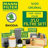 Skoda Fabia 1.4 Mann-filter Filtre Bakım Seti (2000-2008) UP463783 MANN