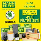 Skoda Fabia 1.4 Mann-filter Filtre Bakım Seti (2008-2014) Cgg UP1128602 MANN
