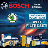 Skoda Fabia 1.4 Tdi Bosch Filtre Bakım Seti 2003-2008 UP583145 BOSCH
