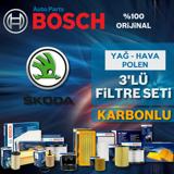Skoda Rapid 1.6 Tdi Dizel Bosch Filtre Bakım Seti 2013-2015 UP1539504 BOSCH