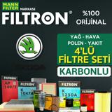 Skoda Roomster 1.4 Tdi Filtron Filtre Bakım Seti 2006-2010 UP1319646 FILTRON