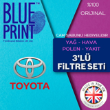 Toyota Auris 1.33 Blueprint Filtre Bakım Seti (2009-2018) UP1156130 BLUEPRINT