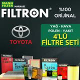 Toyota Corolla 1.4 D4d Filtron Filtre Bakım Seti 2007-2018 UP460611 FILTRON