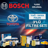 Toyota Yaris 1.0 Bosch Filtre Bakım Seti 2007-2013 UP1313028 BOSCH