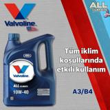 Valvoline All Climate 10w40 A3/b4 Sentetik Motor Yağı 4 Litre UP1534966 VALVOLINE