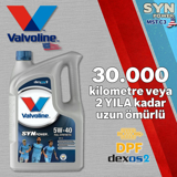 Valvoline Synpower Mst C3 5w40 Partiküllü Dpfli Tam Sentetik Motor Yağı 5 Litre UP1531365 VALVOLINE