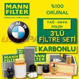 Bmw 3.20 D Mann-filter Filtre Bakım Seti (e90 2006-2012) UP463714 MANN