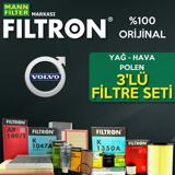 Volvo S40 1.6 Filtron Filtre Bakım Seti 2000-2005 UP1320035 FILTRON
