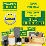 Volvo S40 1.6 Mann-filter Filtre Bakım Seti 2000-2005 UP1320036 MANN
