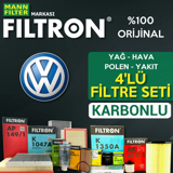 Vw Golf 6 1.4 Tsi Filtron Filtre Bakım Seti 2008-2012 UP1319648 FILTRON