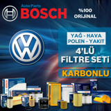 Vw Jetta 1.4 Tsi Bosch Filtre Bakım Seti 2007-2010 Cax UP1312820 BOSCH