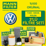 Vw Jetta 1.4 Tsı Mann-filter Filtre Bakım Seti (2011-2014) UP468497 MANN