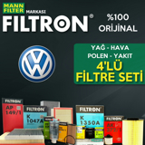 Vw Transporter T5 1.9 Tdi Filtron Filtre Bakım Seti 2004-2009 UP1319485 FILTRON