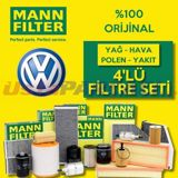 Vw Golf 5 1.6 Mann-filter Filtre Bakım Seti (2004-2009) UP463730 MANN